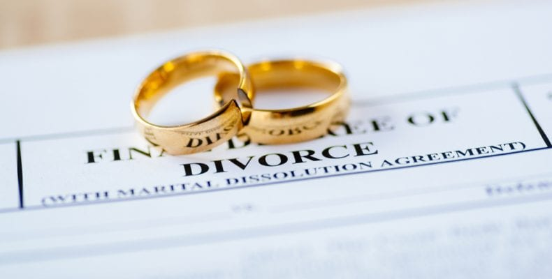 Divorce rings and contract
